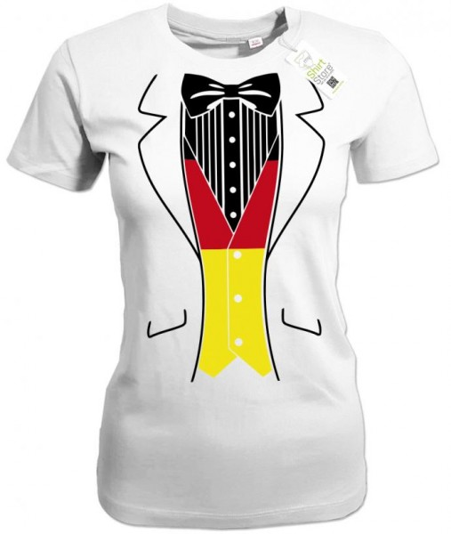 Deutschland Smoking - EM WM - Fan - Damen T-Shirt