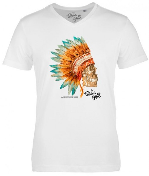 Indian Skull - Totenkopf Indianer Headdress - Fulima - Herren T-Shirt