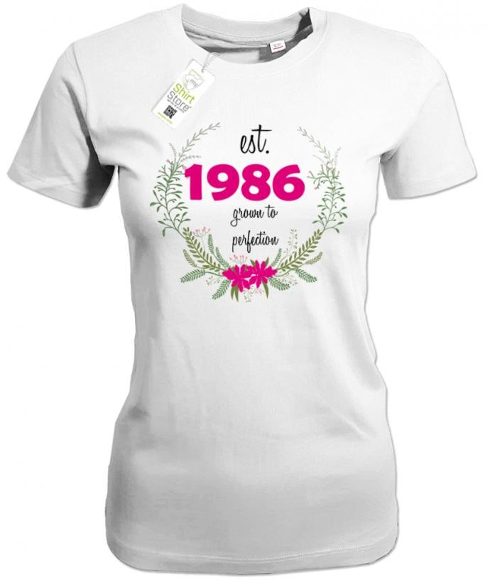 grown to perfection est. 1986 - Geburtstag - Damen T-Shirt