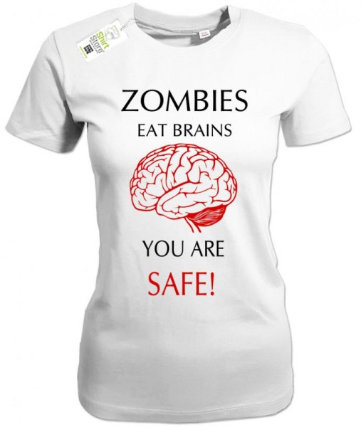 Zombies eats brains you are safe - Halloween - Damen T-Shirt