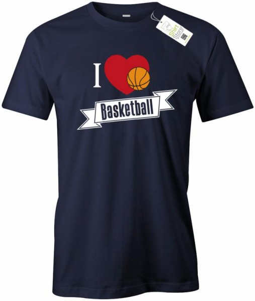 I Love Basketball - Herren T-Shirt