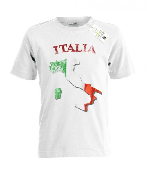 Italia - Vintage - EM WM - Italien Fan - Kinder T-Shirt