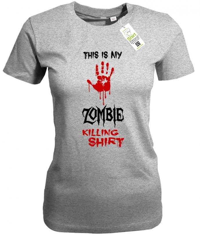 This is my Zombie killing Shirt - Halloween - Damen T-Shirt