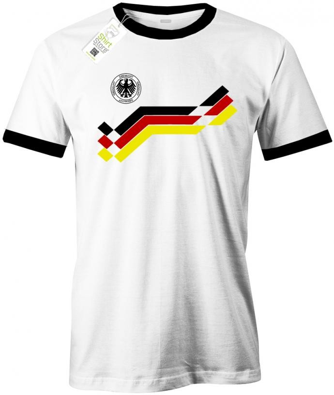 Deutschland Fan Weltmeister T Shirt Retro 90 Herren Fan T Shirt