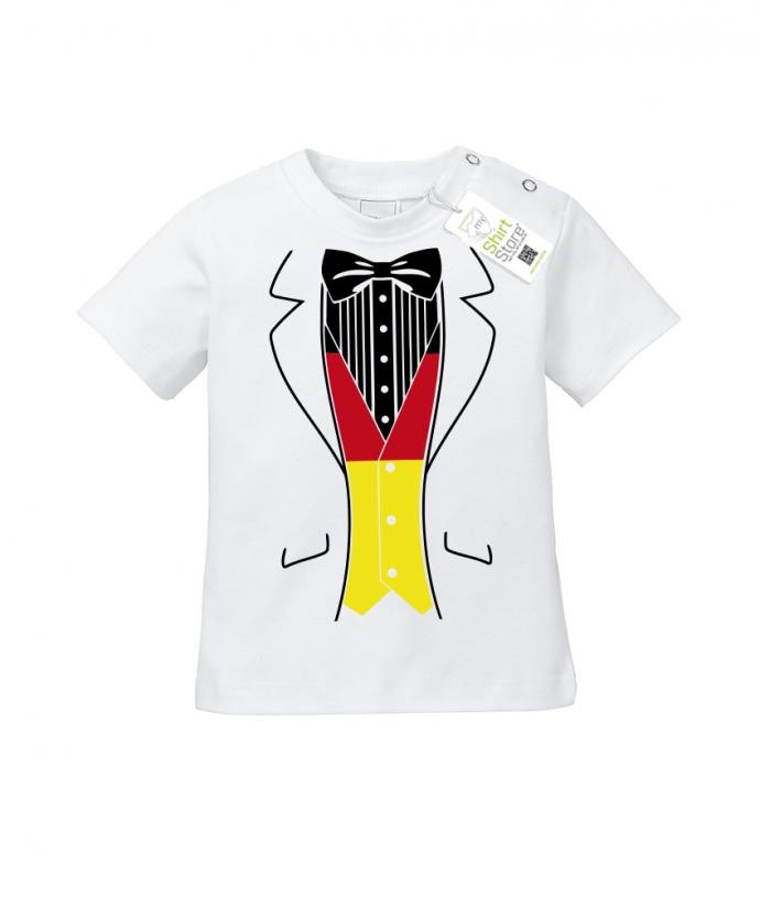 Deutschland Smoking - EM WM - Fan - Baby T-Shirt