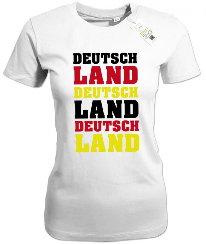 Deutschland 3 mal - EM WM - Fan - Damen T-Shirt