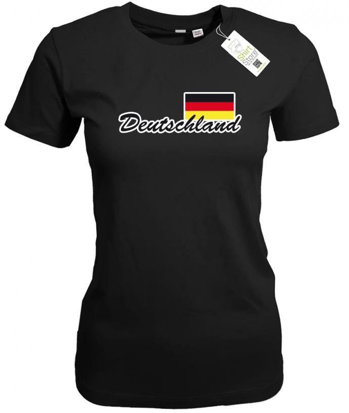 Deutschland Fahne - EM WM - Fan - Damen T-Shirt