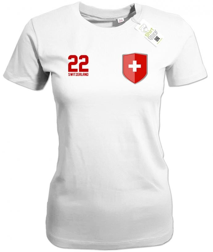 Switzerland 22 Wappen - Schweiz - Fan - Damen T-Shirt
