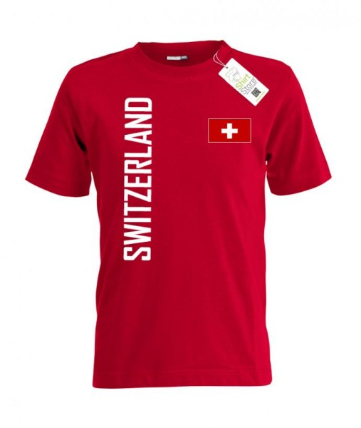 Switzerland Fahne - EM WM - Schweiz Fan - Kinder T-Shirt