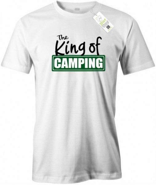 The King of Camping - Herren T-Shirt