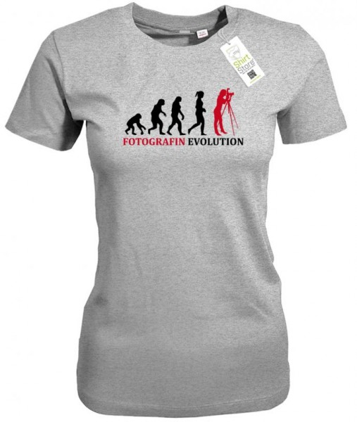 Fotografin Evolution - Damen T-Shirt