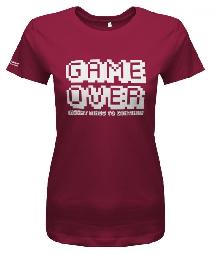 JGA - Game Over Insert Rings to continue - Damen T-Shirt Junggesellinnenabschied Sorbet