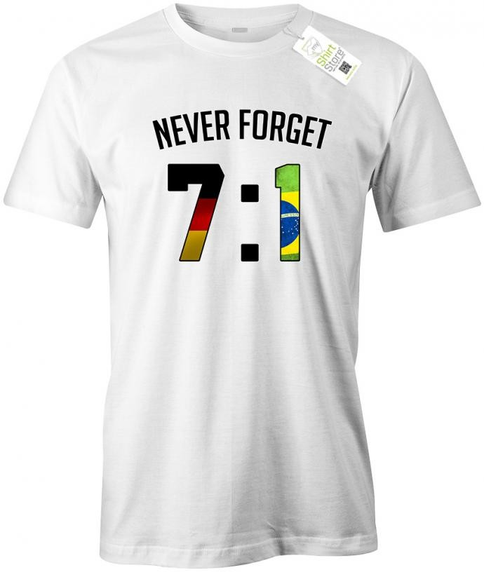 Deutschland Wm 71 Never Forget Herren Fan T Shirt