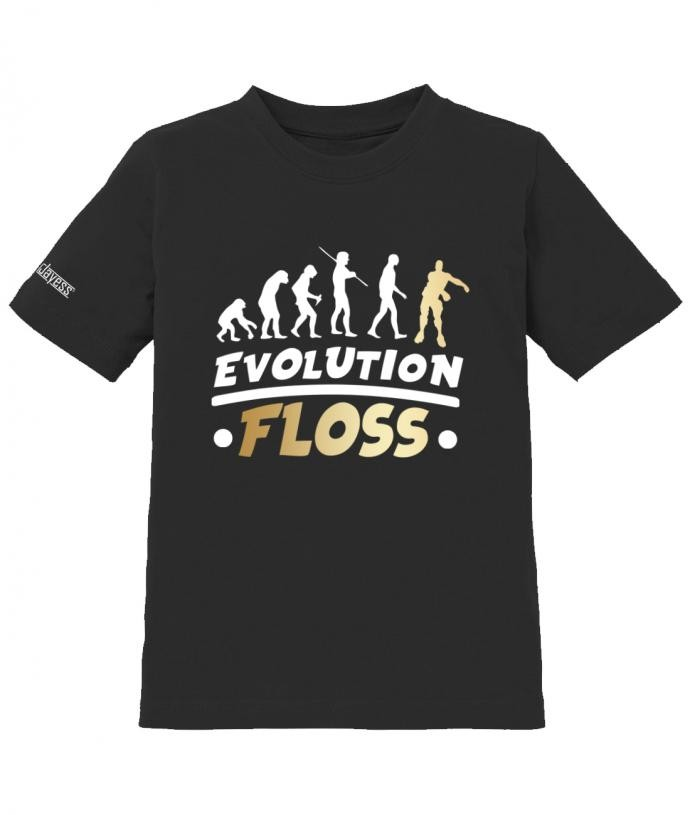 Evolution Floss- Gamer Hype - Jungen - Kinder T-Shirt Schwart