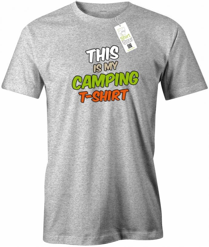 This is my camping Shirt - Camper - Herren T-Shirt