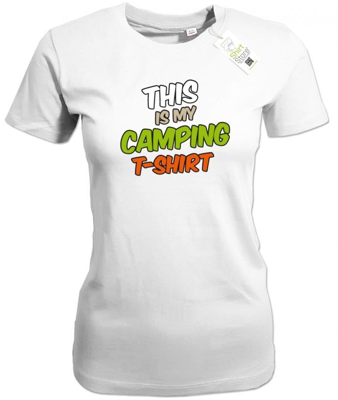 This is my camping Shirt - Camper - Damen T-Shirt