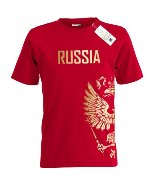 Russia Adler - Russland EM WM - Fan Kinder T-Shirt