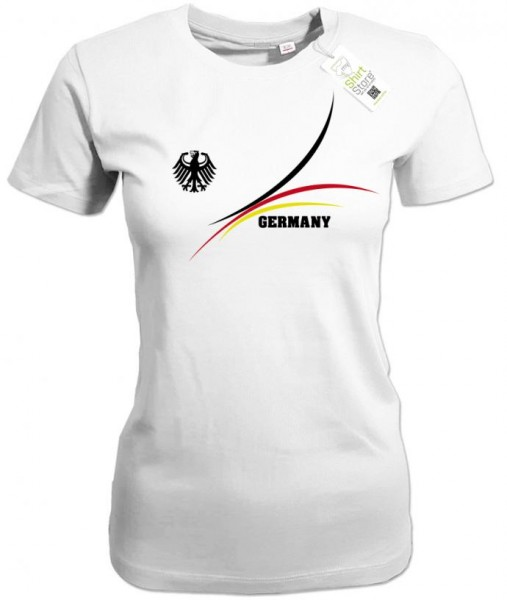 Deutschland Stripes Design - EM WM - Damen T-Shirt