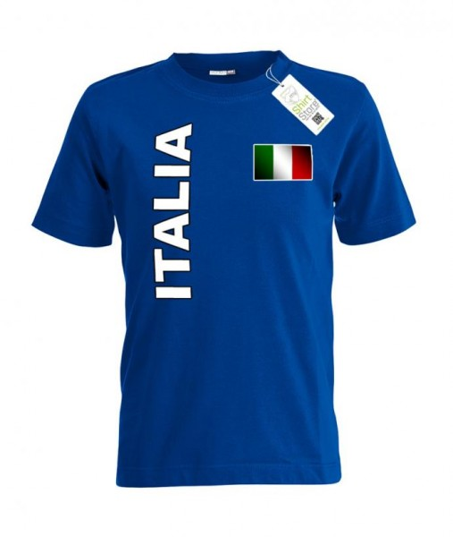 Italia Flagge - EM WM - Italien Fan - Kinder T-Shirt