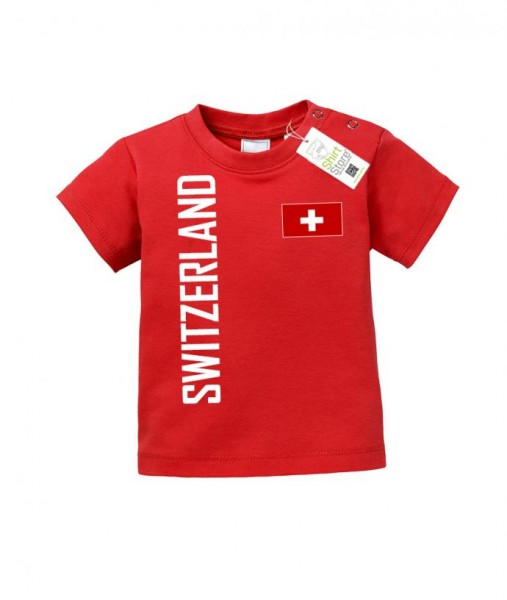 Switzerland Fahne - EM WM - Schweiz Fan - Baby T-Shirt
