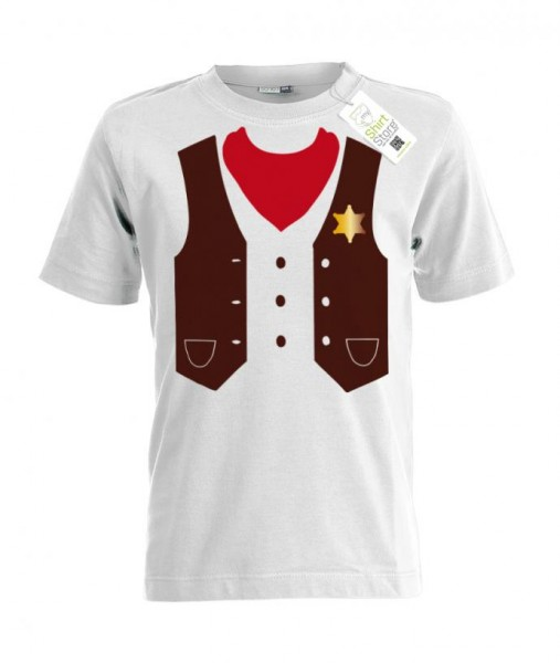 Sheriff - Kinder T-Shirt Kostüm