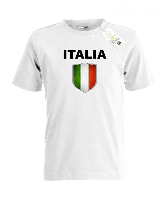 Italien Wappen - EM WM - Italia Fan - Kinder T-Shirt