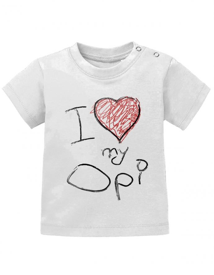 I Love my Opi - Baby T-Shirt