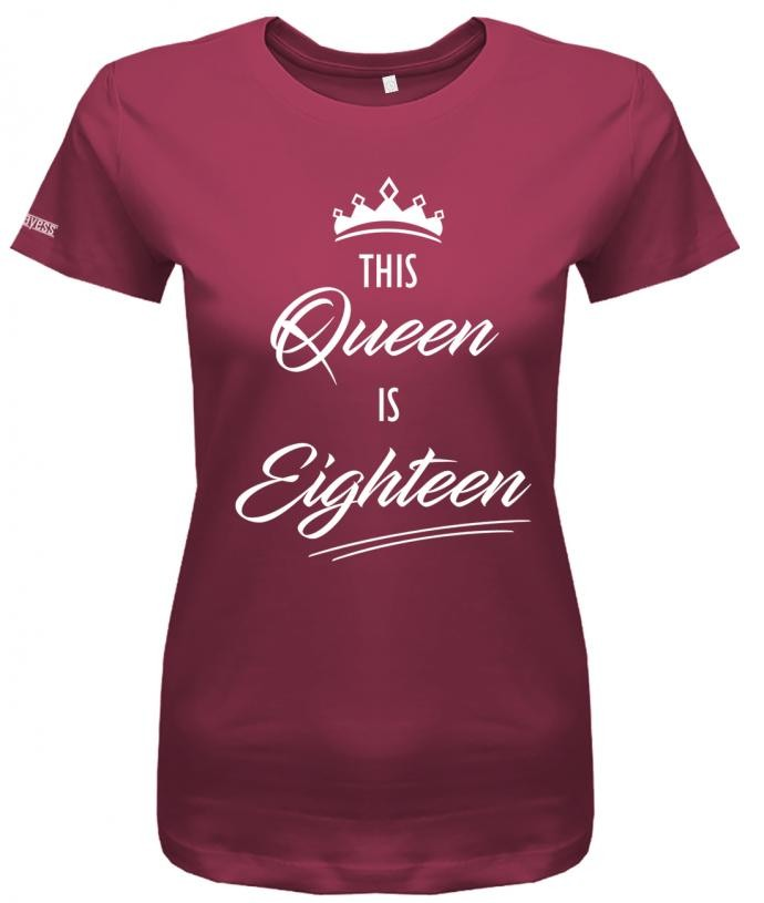 This Queen is eighteen - Geschenk 18. Geburtstag - Damen T-Shirt
