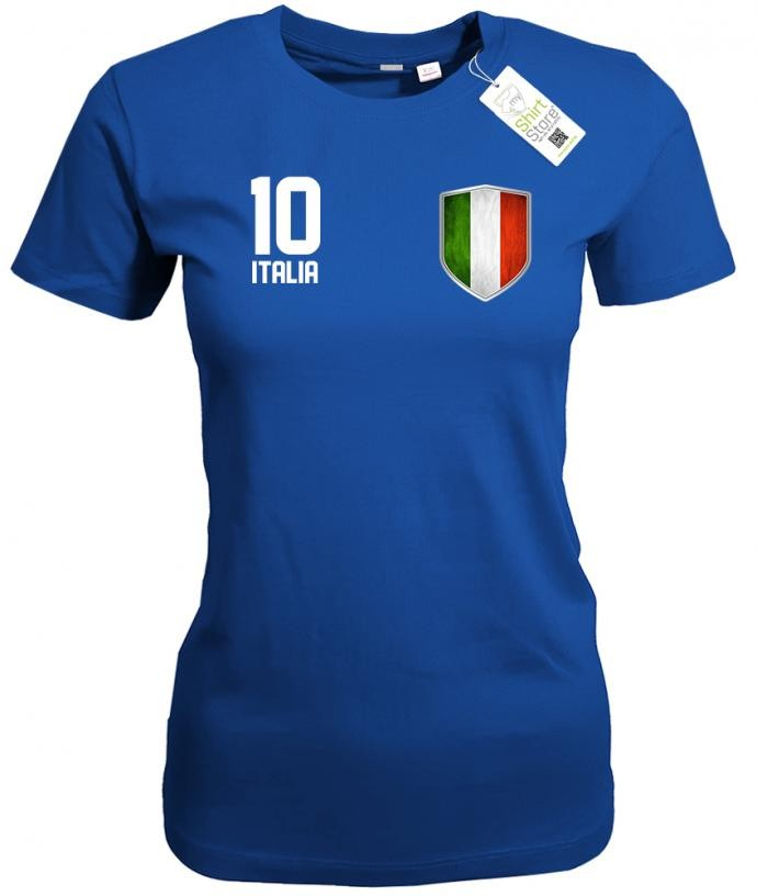 Italia 10 Wappen - EM WM - Italien Fan - Damen T-Shirt