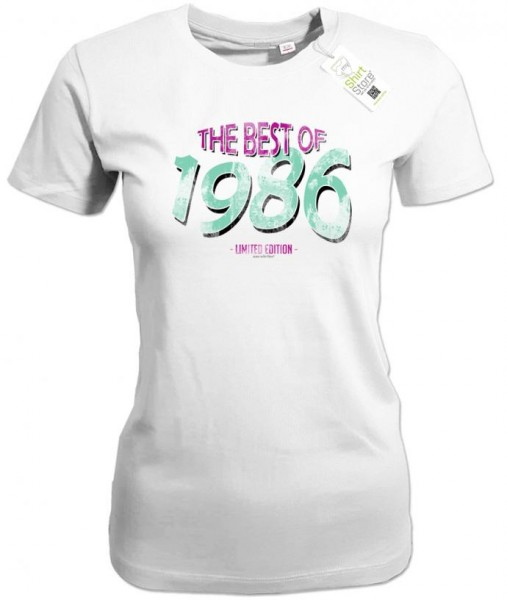 The best of 1986 - Vintage - Geburtstag - Damen T-Shirt