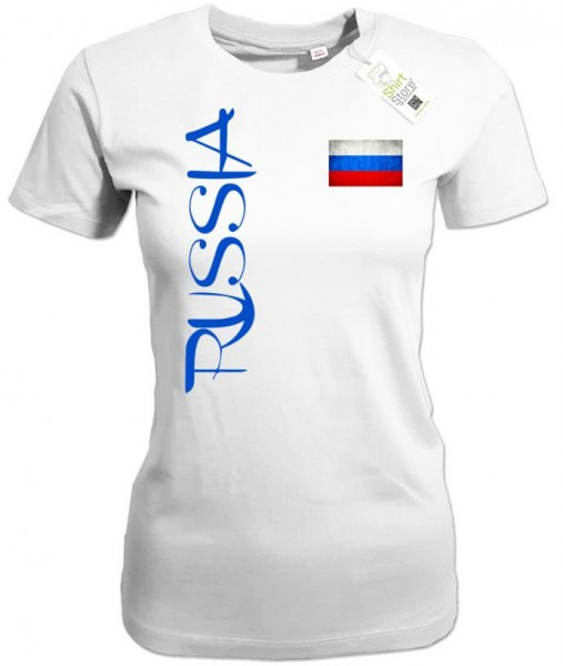 Russia Fahne - EM WM - Russland - Fan - Damen T-Shirt