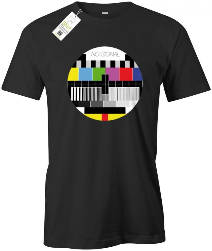No Signal TV Test Screen - Fun - Herren T-Shirt