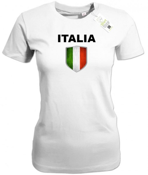 Italien Wappen - Fan T-Shirt - EM WM - Italia - Damen T-Shirt