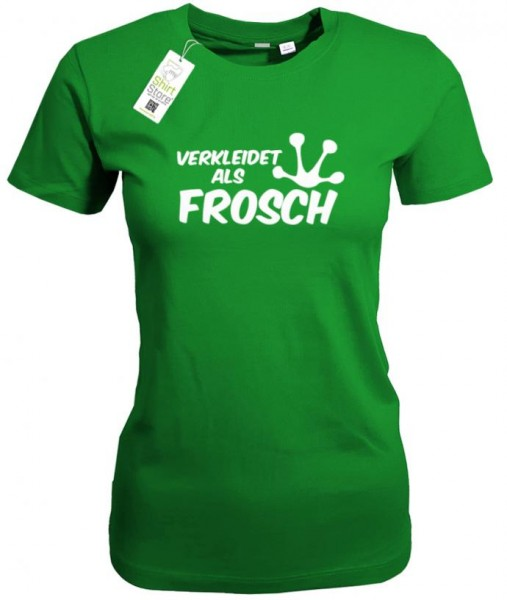 verkleidet als frosch fasching karneval damen t shirt. Black Bedroom Furniture Sets. Home Design Ideas