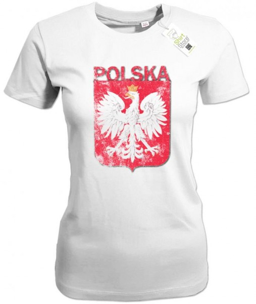 Polska Vintage - EM WM - Polen - Fan - Damen T-Shirt