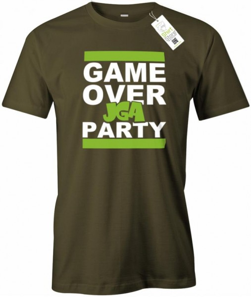 GAME OVER JGA Party - Junggesellenabschied - Herren T-Shirt