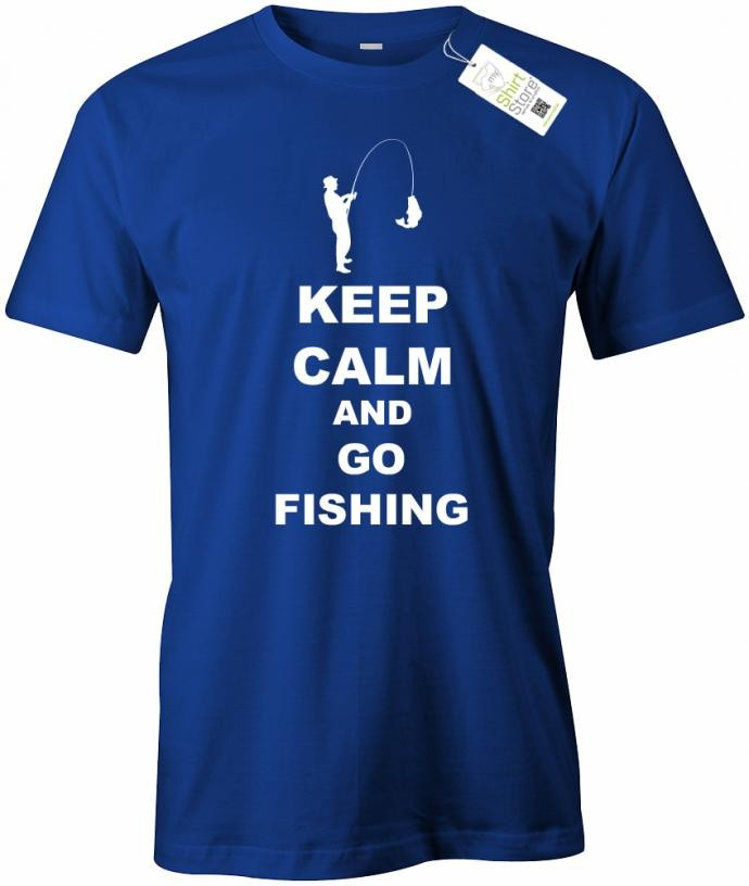 Keep Calm and go fishing - Angler - Herren T-Shirt