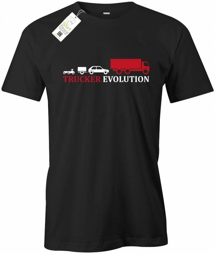 Trucker Evolution - LKW - Herren T-Shirt