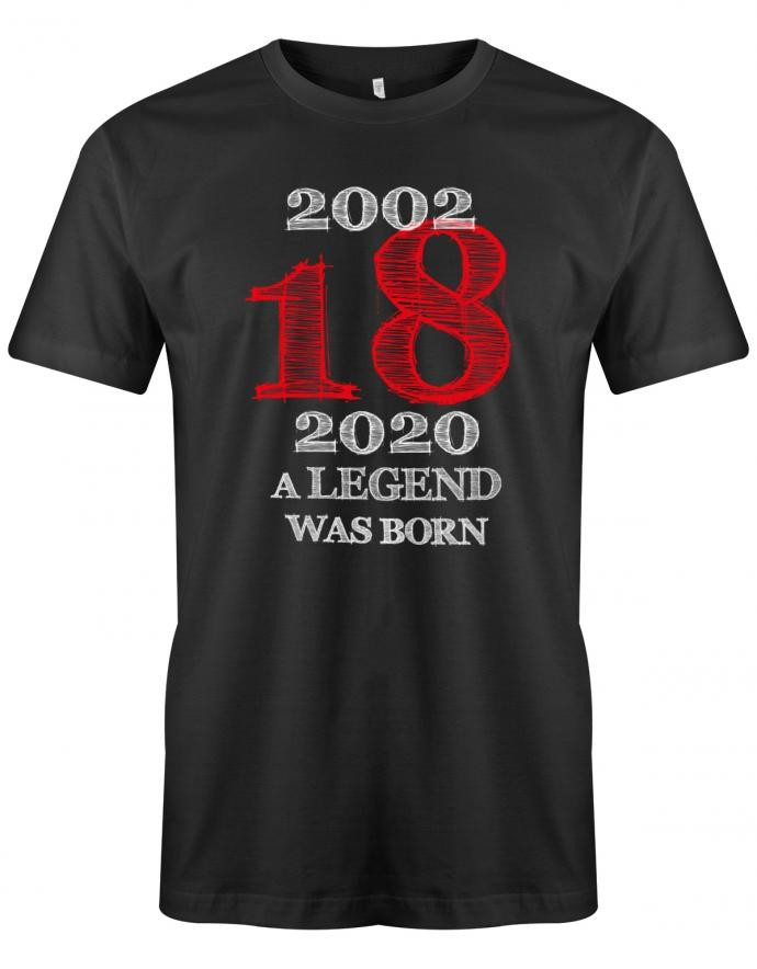 2002 - 2020 18 A Legend was born Herren T-Shirt 18. Geburtstag