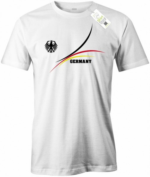 Deutschland Stripes Design - EM WM - Herren T-Shirt