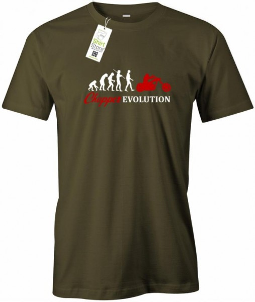Chopper Evolution - Biker - Herren T-Shirt