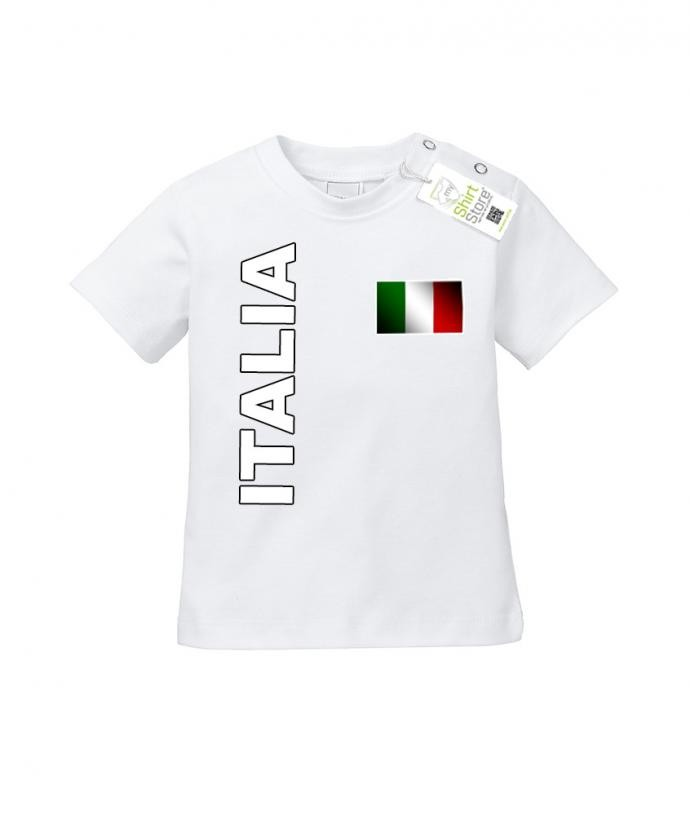 Italia Flagge - EM WM - Italien Fan - Baby T-Shirt
