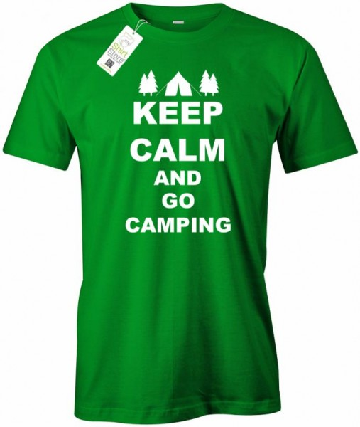 Keep Calm and go camping - Camper - Herren T-Shirt