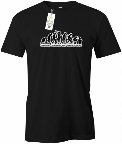Something somewhere went terribly wrong - Gamer - Herren T-Shirt