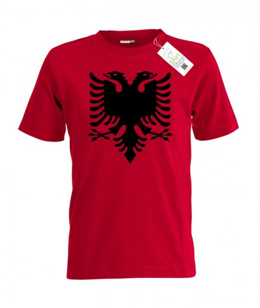 Albaninen Adler - Albania Fan - EM WM - Kinder T-Shirt