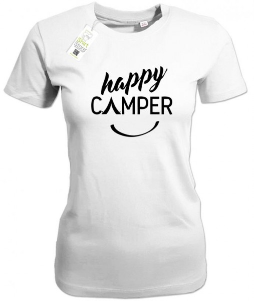 Happy Camper - Camping - Damen T-Shirt