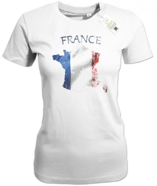 France - Vintage - EM WM - Frankreich - Fan - Damen T-Shirt