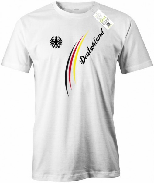 Deutschland Stripes Adler - EM WM - Fan - Herren T-Shirt