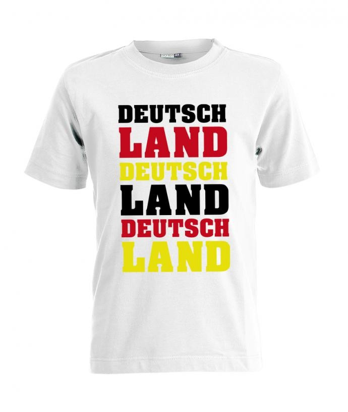 Deutschland 3 mal - EM WM - Fan - Kinder T-Shirt