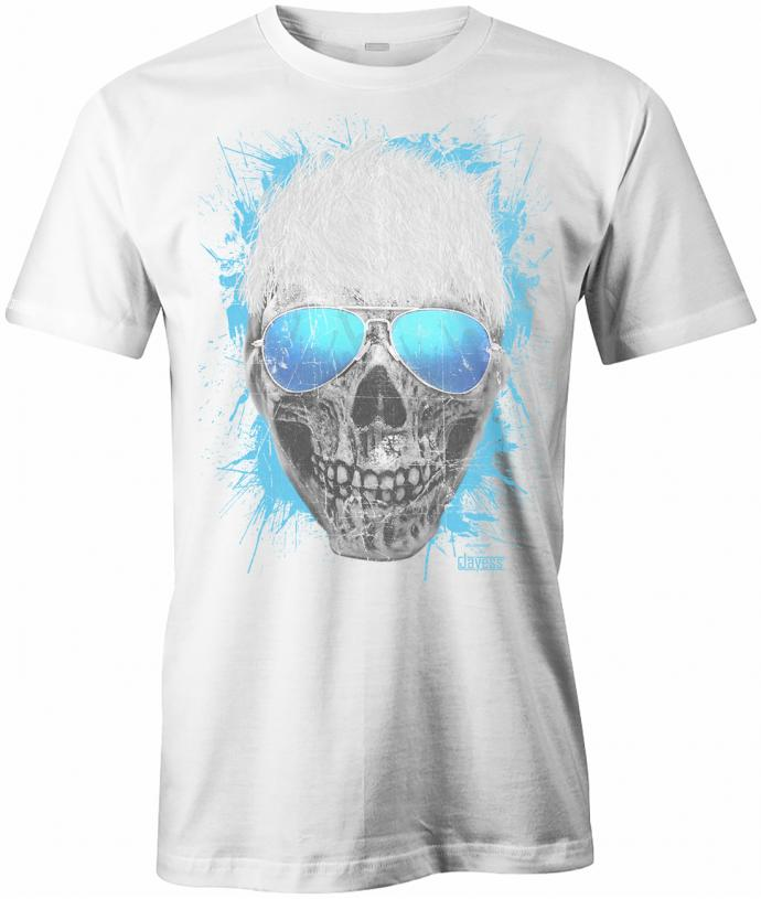 party skull totenkopf herren t shirt. Black Bedroom Furniture Sets. Home Design Ideas